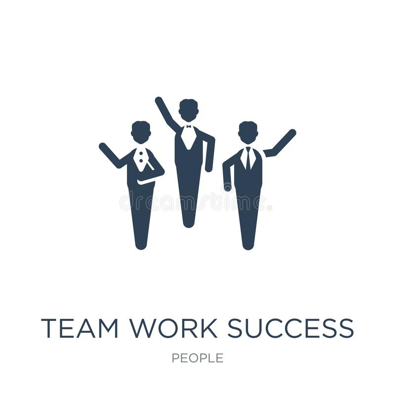 team work success icon in trendy design style. team work success icon isolated on white background. team work success vector icon royalty free illustration