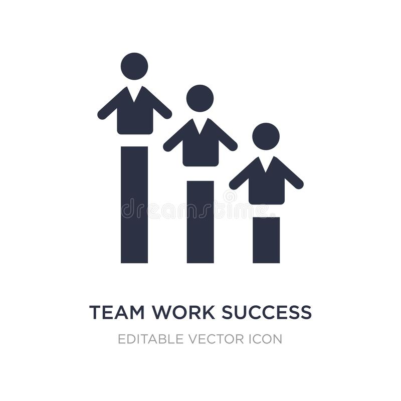 team work success icon on white background. Simple element illustration from People concept stock illustration