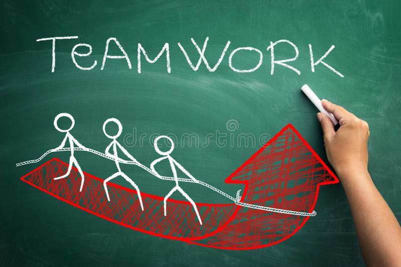 With team work to successful business stock illustration