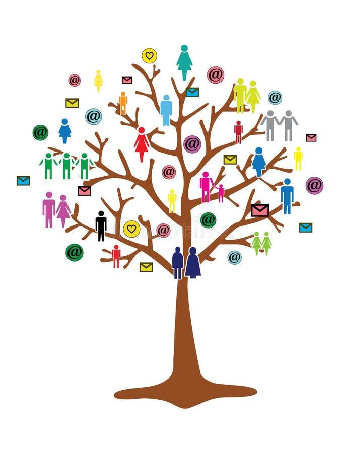 Team Work träd arkivfoton