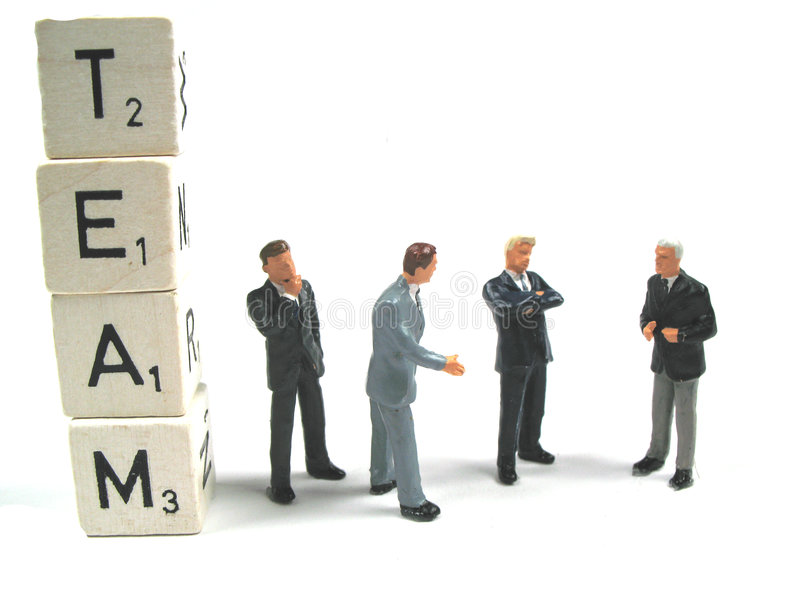 A team working together royalty free stock images