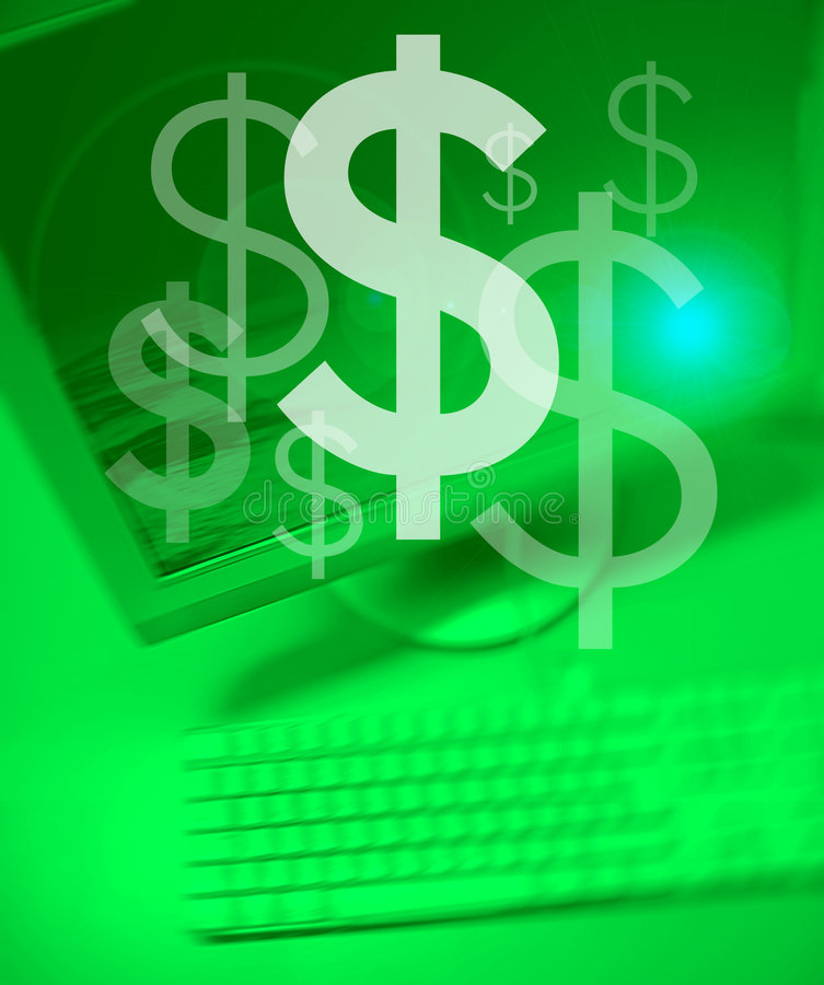 Team Works Dollar stock illustration