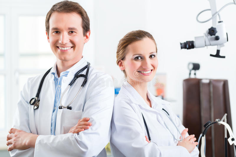 Team of young doctors in a clinic