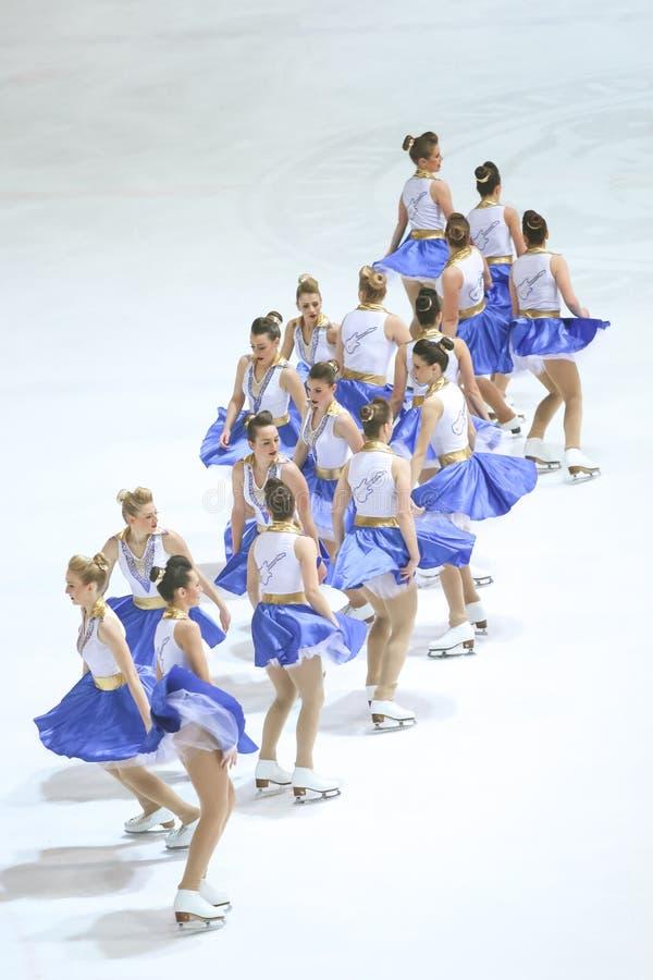 Team Zagreb Snowflakes Senior images stock