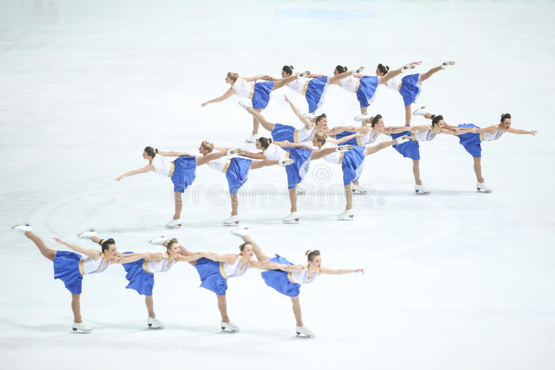 Team Zagreb Snowflakes Senior dans des groupes photos stock