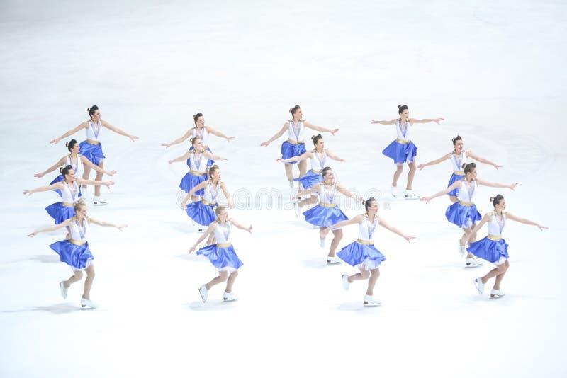 Team Zagreb Snowflakes Senior exécutent photo libre de droits