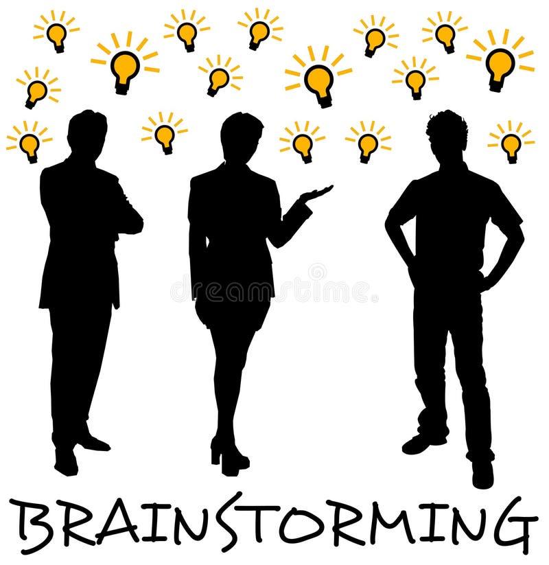 Download Teambrainstorming stock abbildung. Illustration von kreativ - 47100339