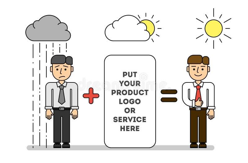 Teambuilding和营销概念 皇族释放例证
