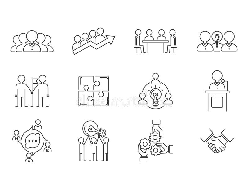 teambuilding稀薄的线象的企业配合运作命令管理概述人力资源概念传染媒介 皇族释放例证