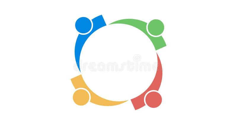 Teamembleem colourfull royalty-vrije stock afbeelding