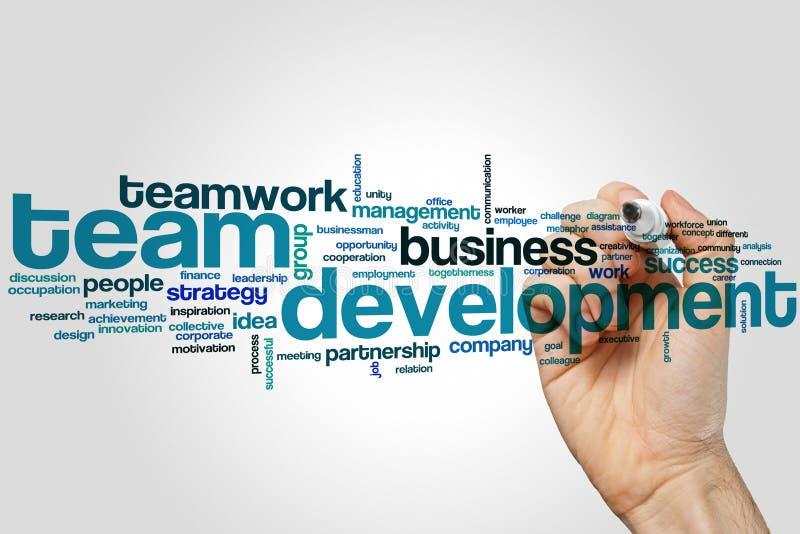 Teamentwicklungs-Wortwolke lizenzfreie stockfotos