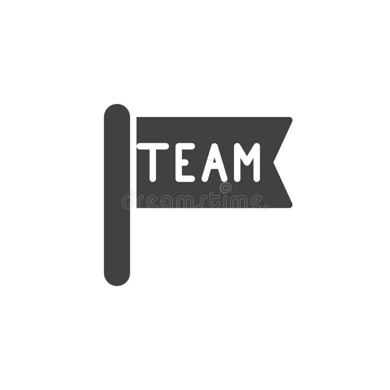 Teamflaggen-Ikonenvektor lizenzfreie abbildung