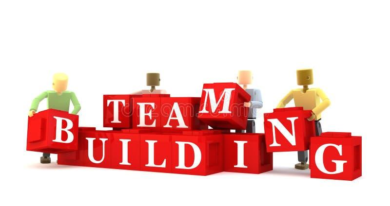 Teamgebäude lizenzfreie abbildung