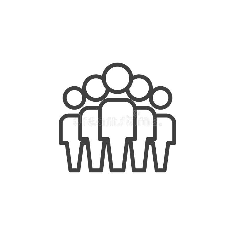 Teamgruppenlinie Ikone lizenzfreie abbildung