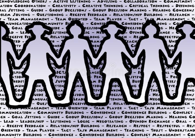 Teamhändchenhalten-Schlüsselwortteamwork besser zusammen lizenzfreie abbildung
