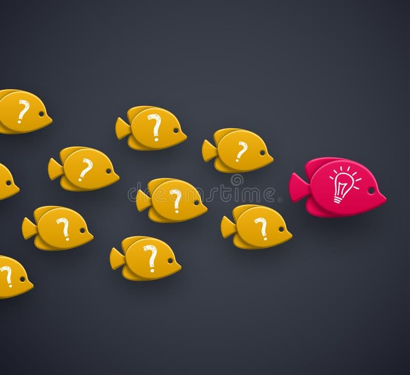 Teamleider stock illustratie