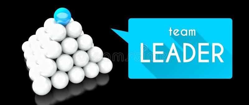 Teamleider, conceptie van leiding stock illustratie
