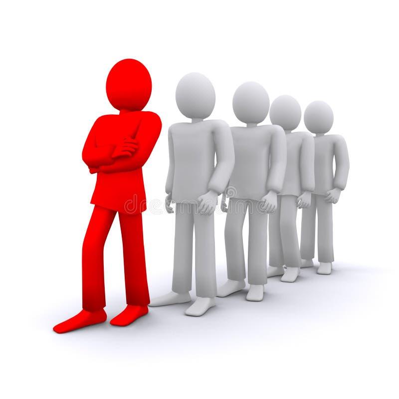 Teamleiter lizenzfreie abbildung