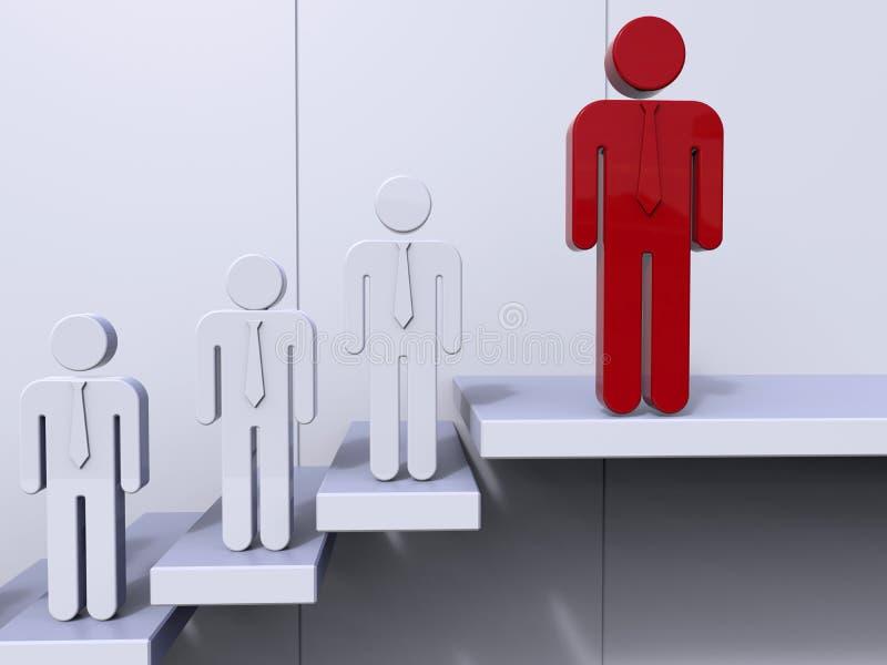 Teamleiter - Spitze des Treppenkonzeptes lizenzfreie abbildung