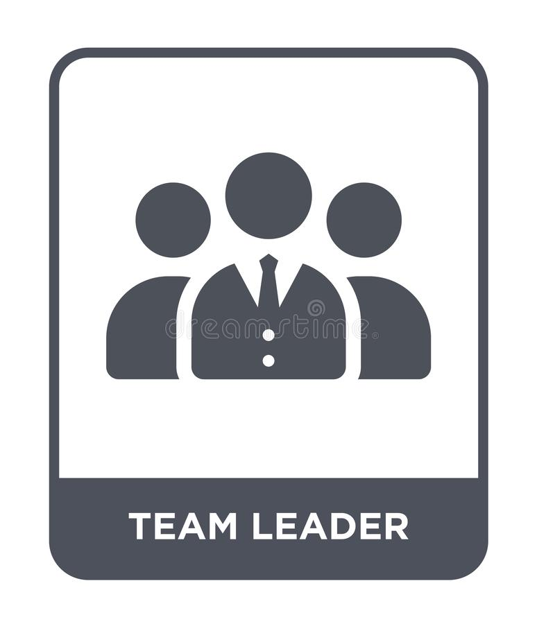 Teamleiterikone in der modischen Entwurfsart Teamleiterikone lokalisiert auf weißem Hintergrund Teamleitervektorikone einfach und vektor abbildung