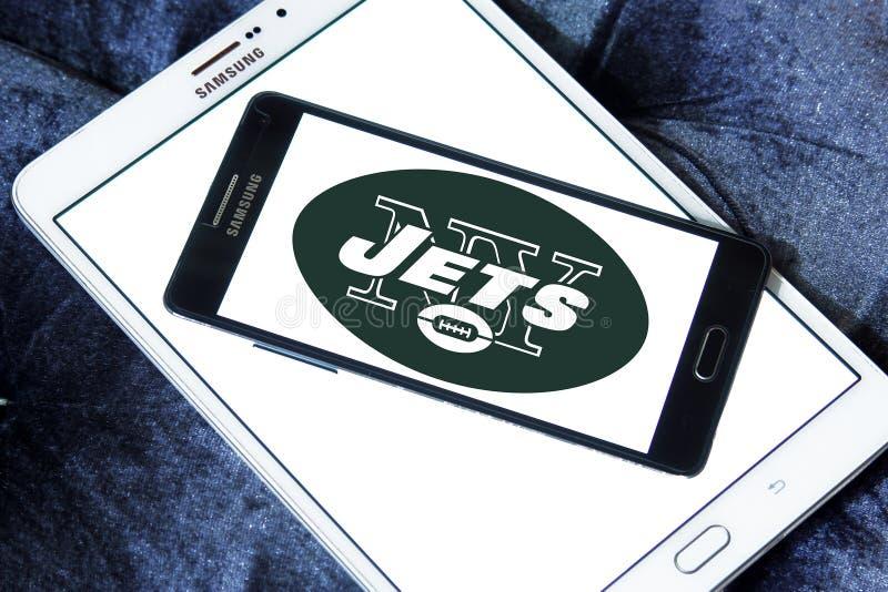 Teamlogo des amerikanischen Fußballs der New York Jets lizenzfreies stockfoto