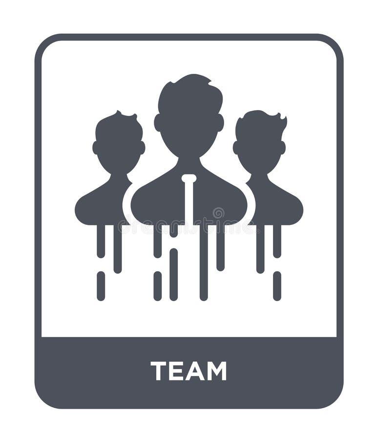 teampictogram in in ontwerpstijl Teampictogram op witte achtergrond wordt geïsoleerd die eenvoudige en moderne vlakke symbool van stock illustratie