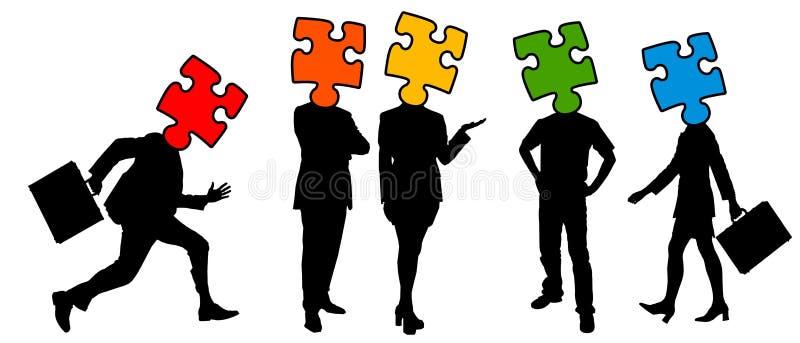 Teamprobleem vector illustratie