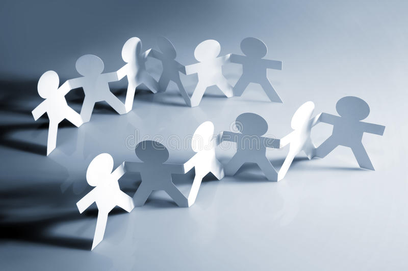 Teams. Of people holding hands royalty free stock photography