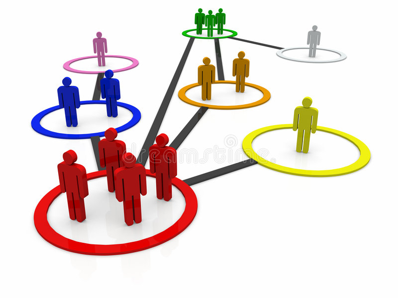 Teams bei der Arbeit lizenzfreie abbildung