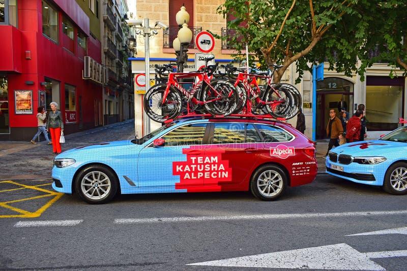 Team Katusha Alpecin Car stock photography