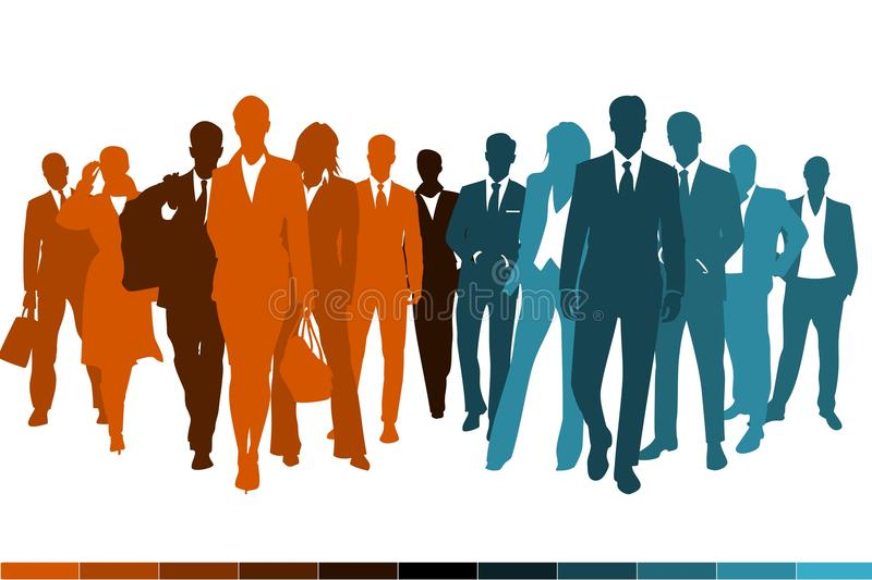 Download Teams joining stock vector. Image of silhouettes, join - 28138280