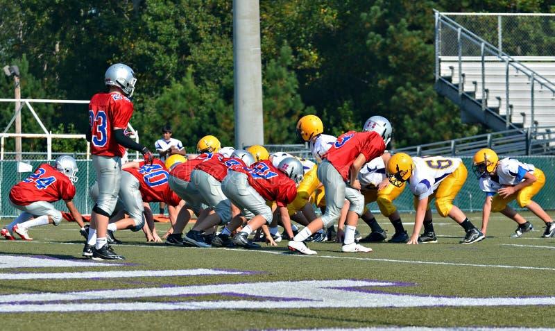 Teams Ready to Play Football stock photography