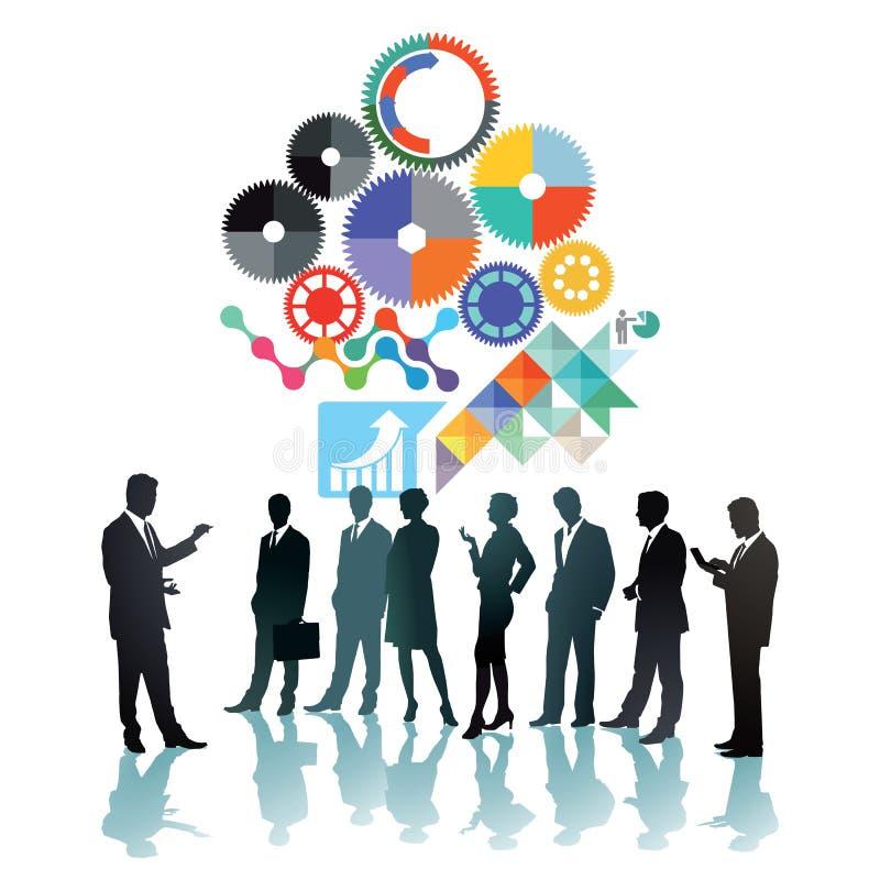 Teamsamenwerking royalty-vrije illustratie