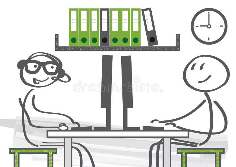 Teamsamenwerking in het bureau stock illustratie