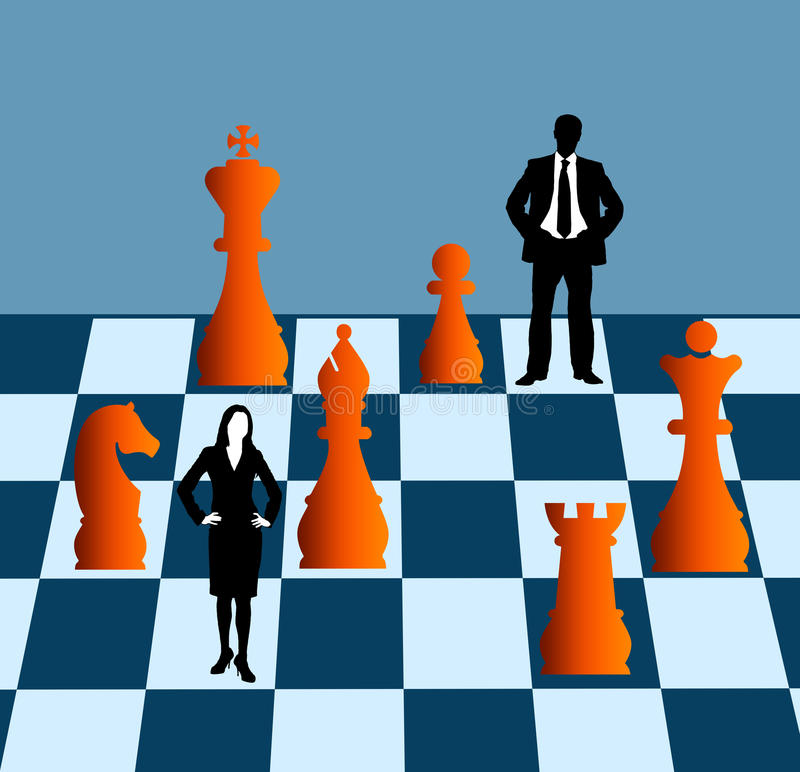 Teamstrategie royalty-vrije illustratie
