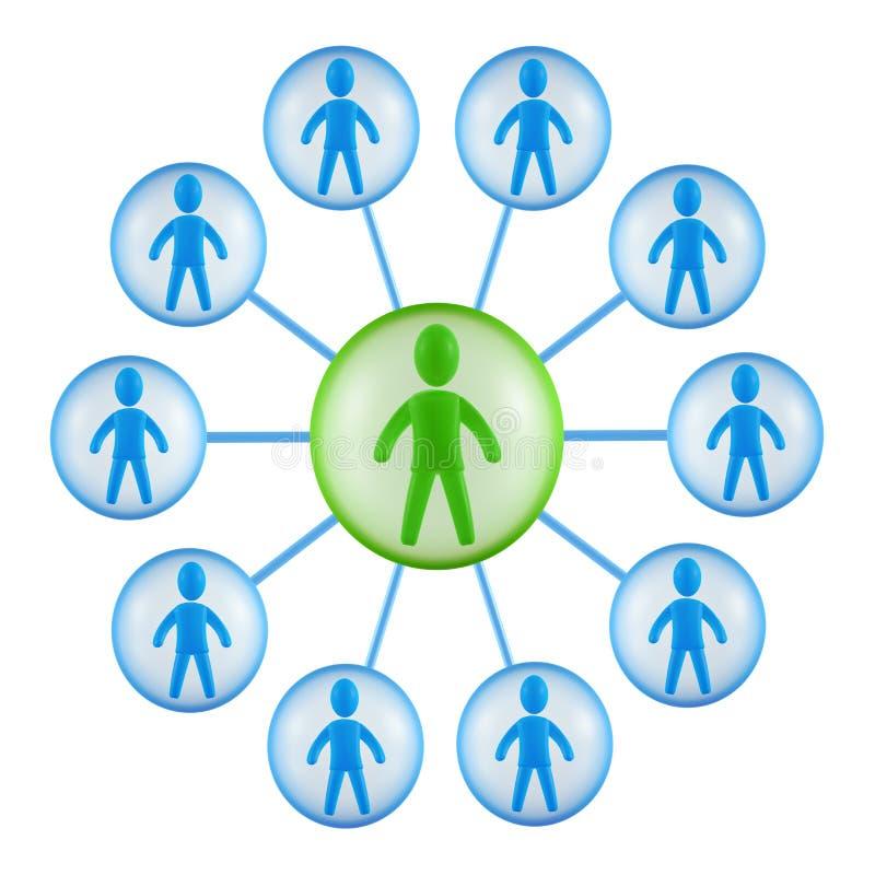 Teamstruktur lizenzfreie abbildung