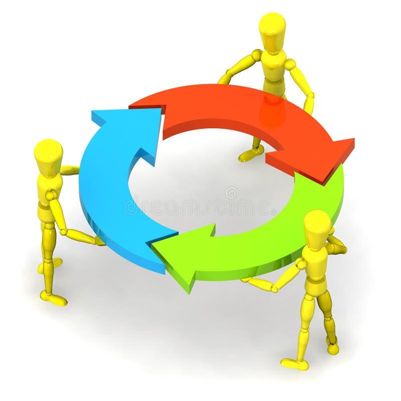 Teamwork stock abbildung
