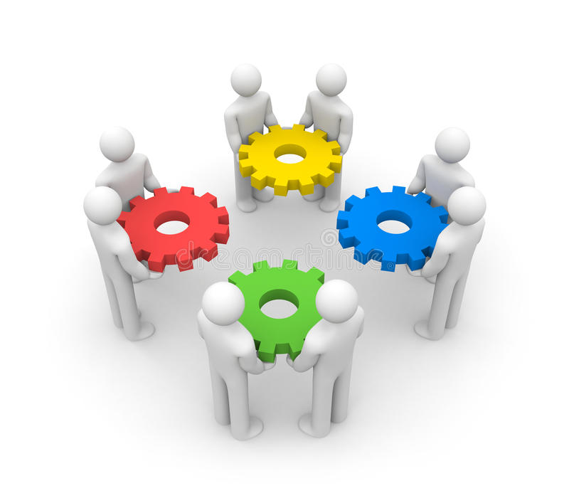 Download Teamwork stock illustration. Image of gear, evolution - 14862457