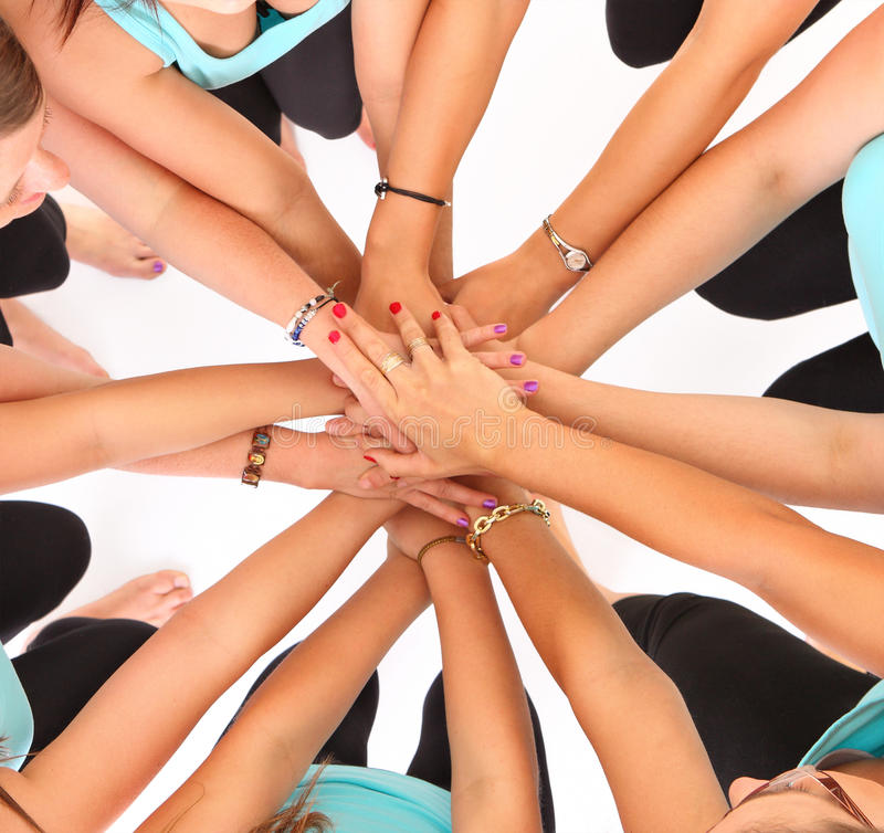 Download Teamwork! stock photo. Image of standing, circle, isolated - 24974942