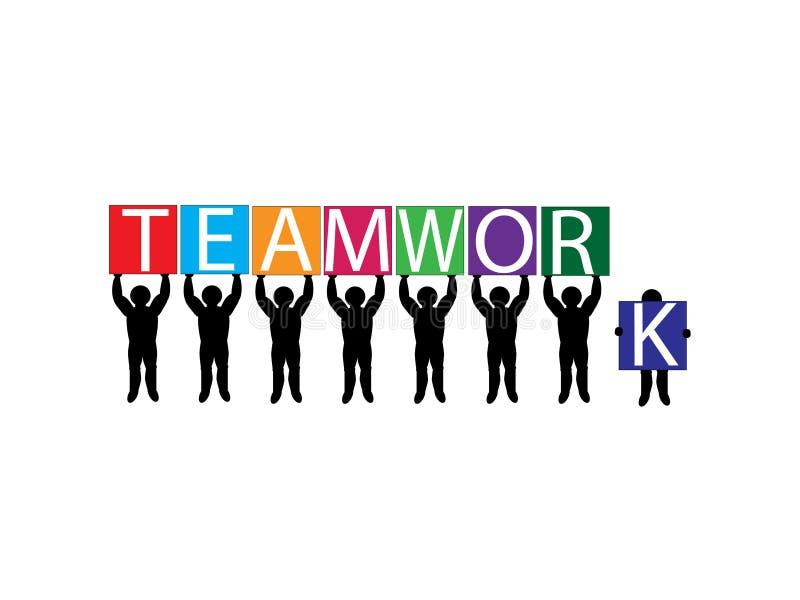 Download Teamwork stock vector. Illustration of workforce, together - 4372937