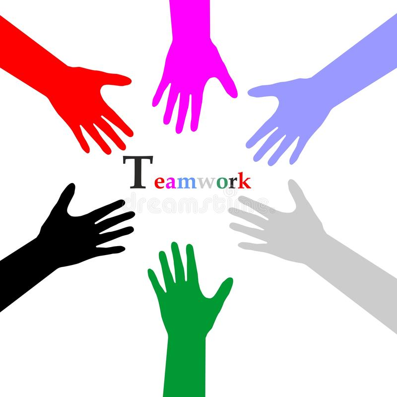 teamwork illustration stock