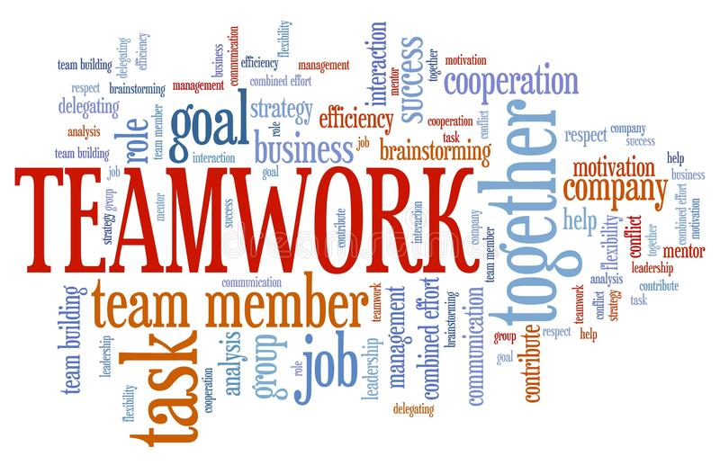teamwork illustration de vecteur