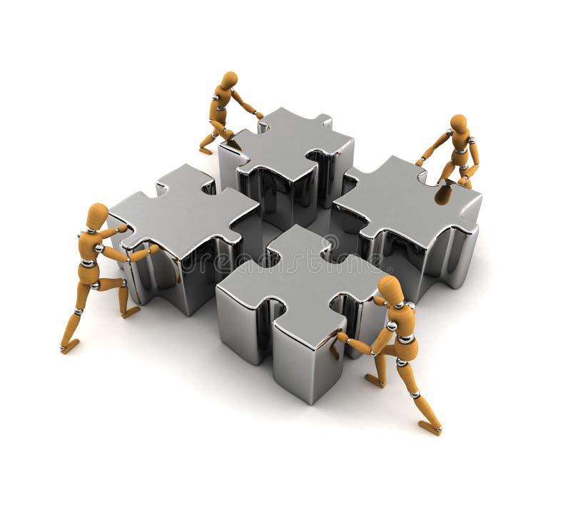 teamwork stock illustrationer