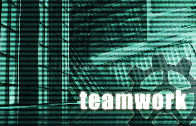 Teamwork stock abbildung