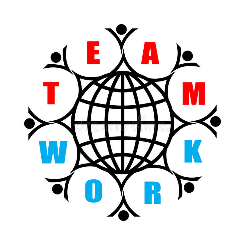 Download Teamwork stock vector. Image of group, draw, happy, continent - 9731391