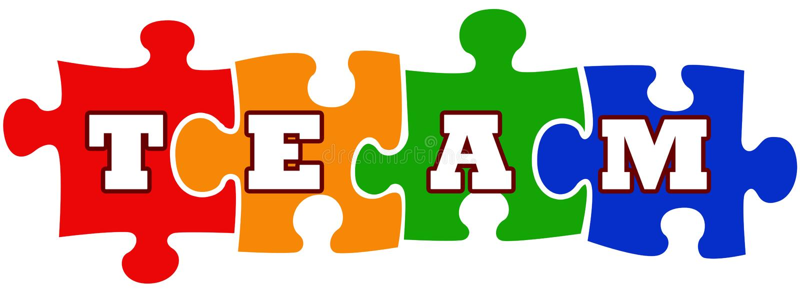 Teamwork-Abbildung lizenzfreie abbildung