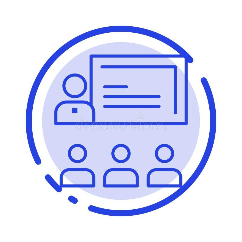 Teamwork affär, människa, ledarskap, blå prickig linje linje symbol för ledning vektor illustrationer