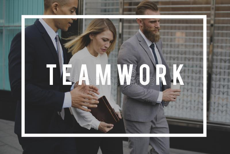 Teamwork Alliance Överenskommelse Företag partners arkivfoton