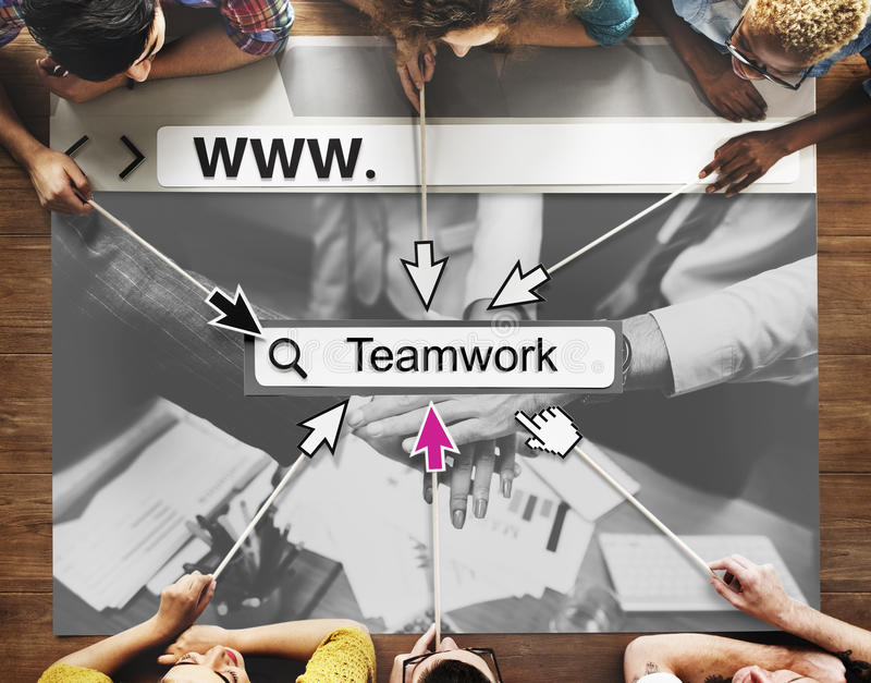 Teamwork Alliance Agreement Company Team Concept fotografia stock libera da diritti