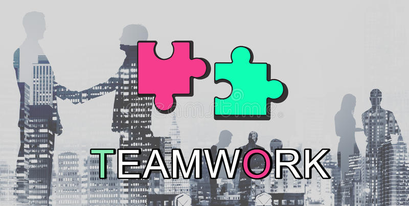 Teamwork Alliance Collaboration Connection Concept. Business Teamwork Alliance Collaboration Connection Concept royalty free stock photo